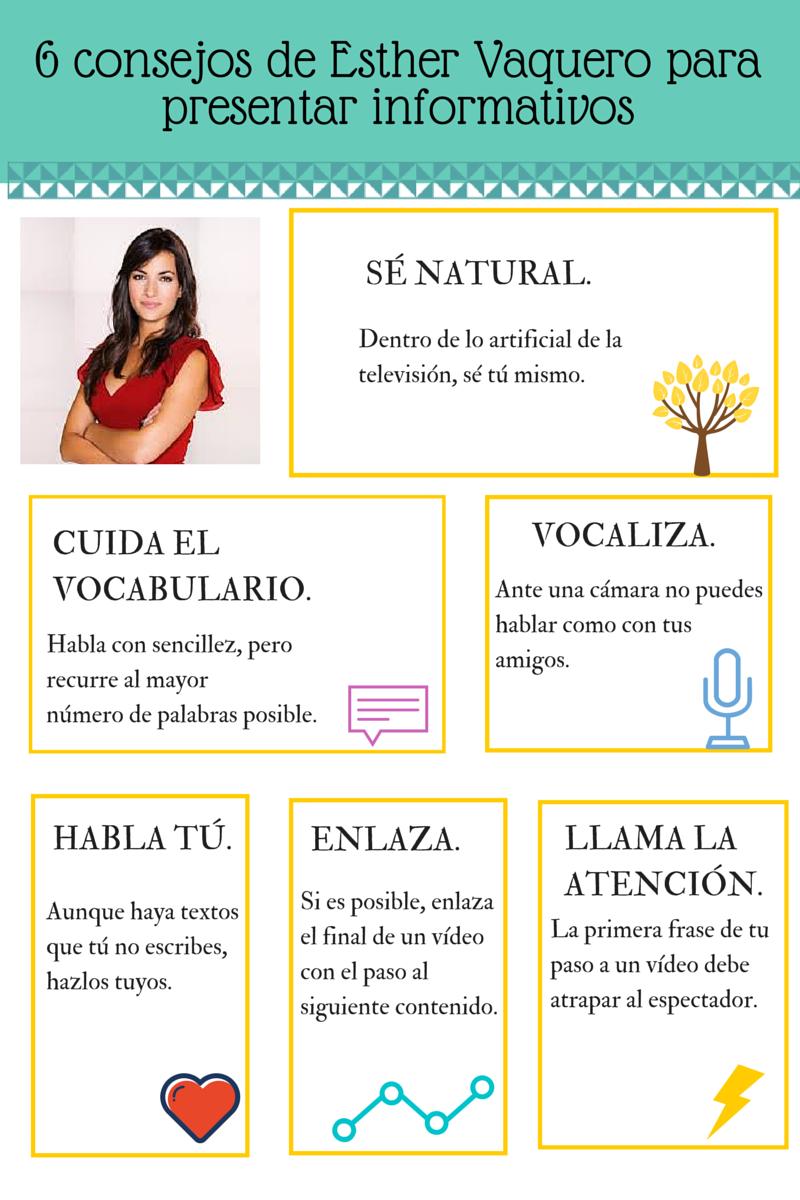 6 consejos de Esther Vaquero para